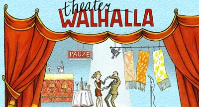 cartoony image of a couple dancing in a theater